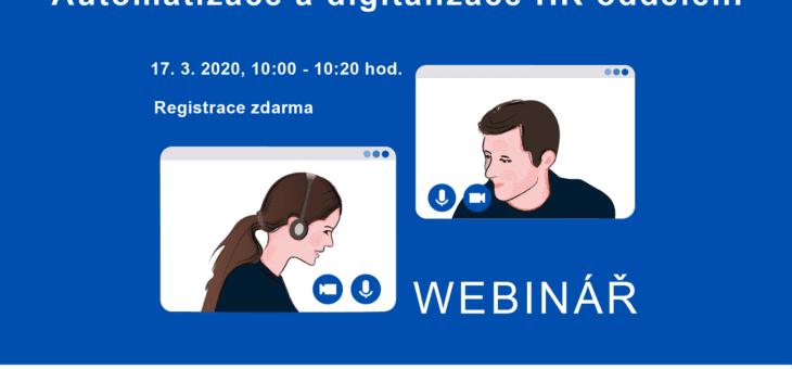 Webinář: Automatizace a digitalizace HR oddělení, 17. 3. 2021, 10:00 – 10:20